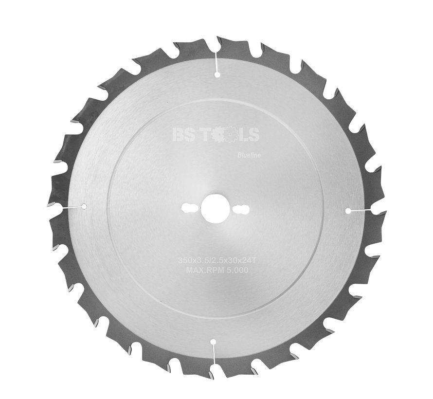 Circular sawblade BlueLine 350 x 3,5 x 30 mm.  T=24 alternate top bevel teeth