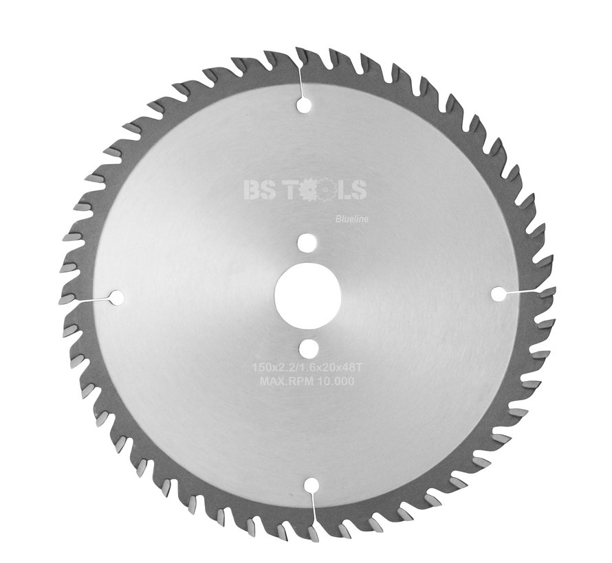 Circular sawblade BlueLine 150 x 2,2 x 20 mm.  T=48 alternate top bevel teeth