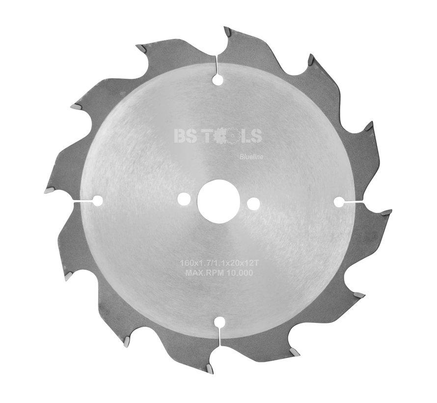 HM cirkelzaag BlueLine 160 x 1,7 x 20 mm.  T=12 wisseltand