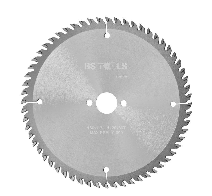 Circular sawblade BlueLine 160 x 1,7 x 20 mm.  T=60 alternate top bevel teeth