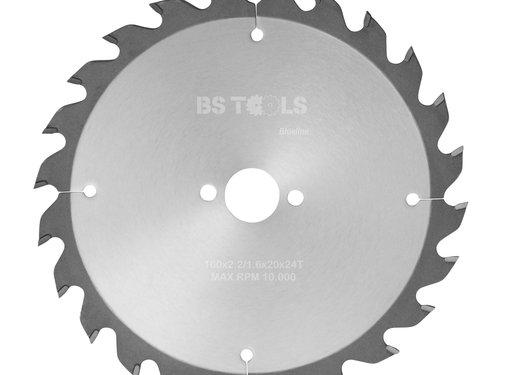 BS tools BlueLine HM zaag BlueLine 160 x 2,2 x 20 mm.  T=24 wz