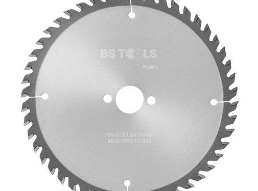 BS tools BlueLine HM zaag BlueLine 160 x 2,2 x 20 mm.  T=48 wz