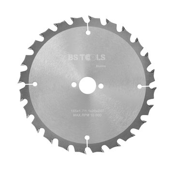 BS tools BlueLine Circular saw BlueLine 165 x 1,7 x 20 mm.  T=24 ATB
