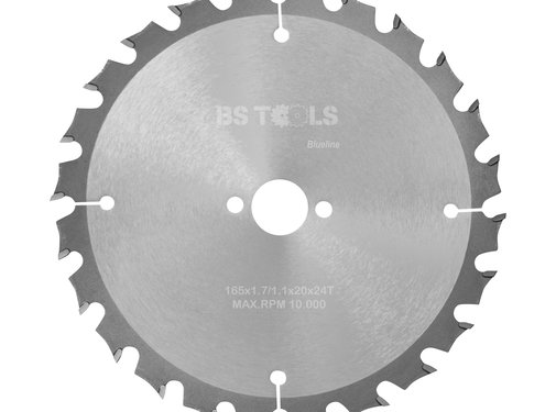 BS tools BlueLine HM zaag BlueLine 165 x 1,7 x 20 mm.  T=24 wz
