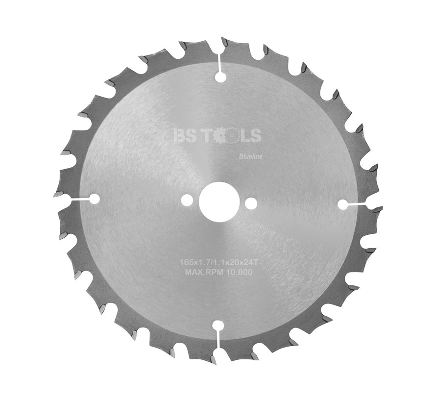 Circular sawblade BlueLine 165 x 1,7 x 20 mm.  T=24 alternate top bevel teeth