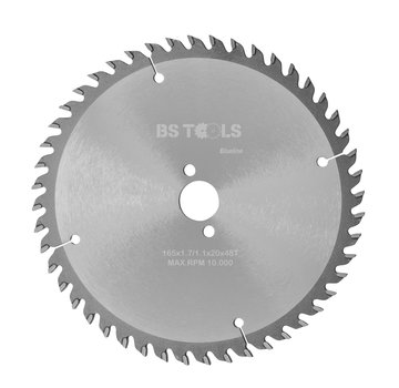 BS tools BlueLine Circular saw BlueLine 165 x 1,7 x 20 mm.  T=48 ATB