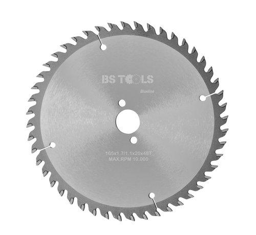 BS tools BlueLine Circular sawblade BlueLine 165 x 1,7 x 20 mm.  T=48 alternate top bevel teeth