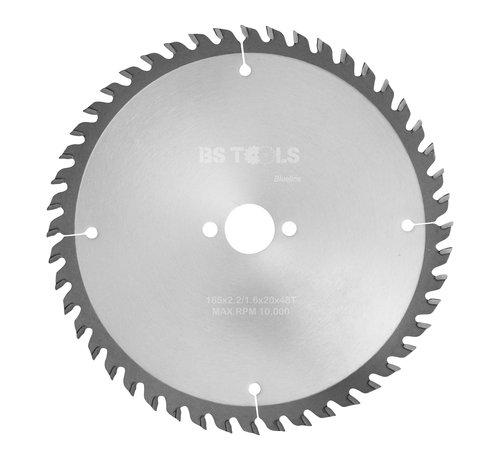 BS tools BlueLine Circular sawblade BlueLine 165 x 2,2 x 20 mm.  T=48 alternate top bevel teeth