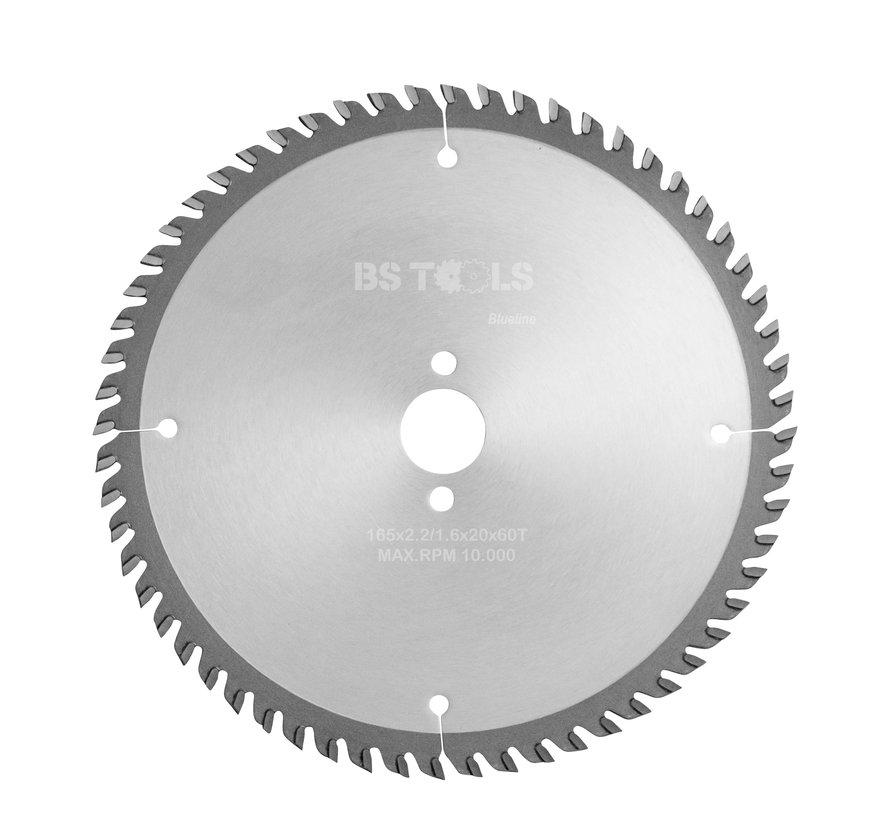 Circular sawblade BlueLine 165 x 2,2 x 20 mm.  T=60 alternate top bevel teeth