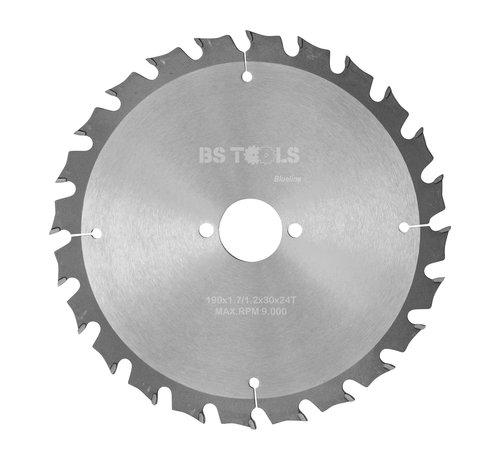 BS tools BlueLine Circular sawblade BlueLine 190 x 1,7 x 30 mm.  T=24 alternate top bevel teeth