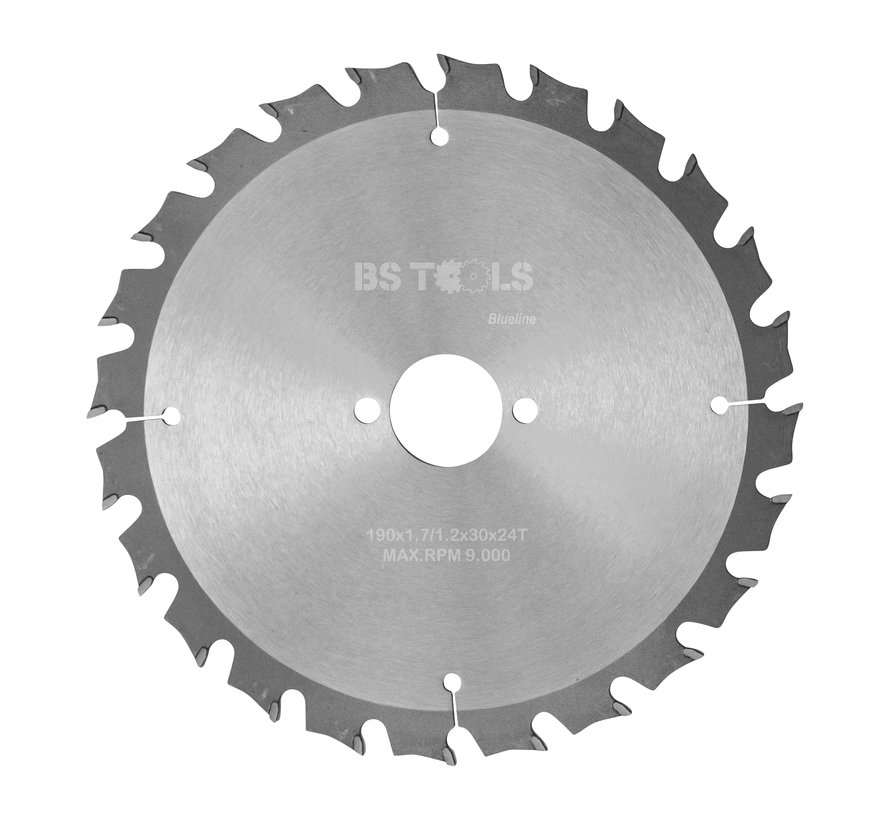 Circular sawblade BlueLine 190 x 1,7 x 30 mm.  T=24 alternate top bevel teeth