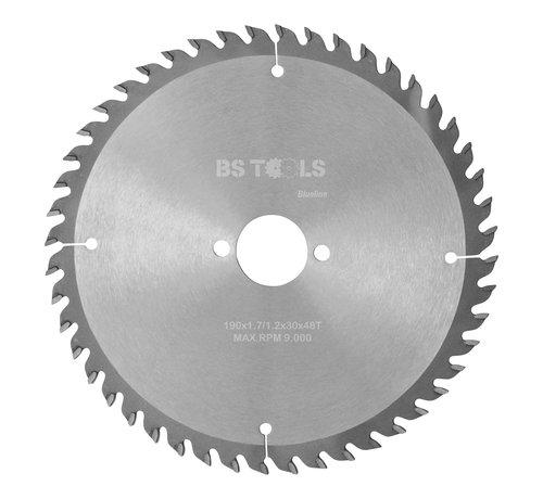 BS tools BlueLine Circular sawblade BlueLine 190 x 1,7 x 30 mm.  T=48 alternate top bevel teeth