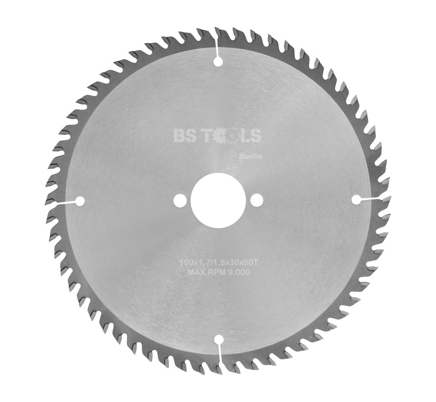 Circular sawblade BlueLine 190 x 1,7 x 30 mm.  T=60 alternate top bevel teeth