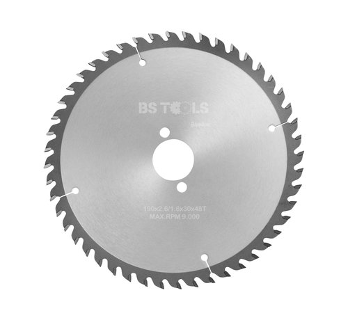 BS tools BlueLine Circular sawblade BlueLine 190 x 2,8 x 30 mm.  T=48 alternate top bevel teeth