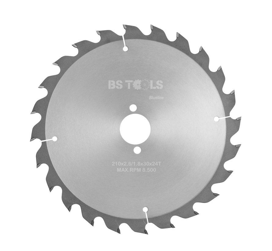 Circular sawblade BlueLine 210 x 2,6 x 30 mm.  T=24 alternate top bevel teeth