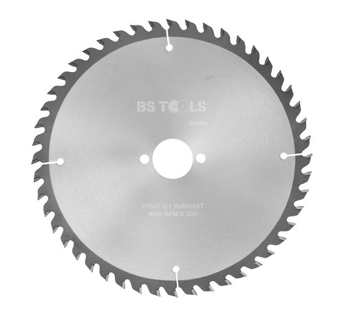 BS tools BlueLine Circular sawblade BlueLine 210 x 2,6 x 30 mm.  T=48 alternate top bevel teeth
