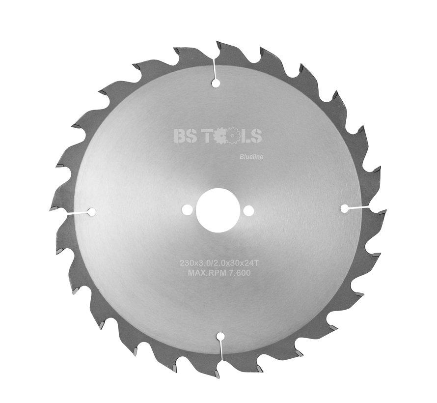 Circular sawblade BlueLine 230 x 3,0 x 30 mm.  T=24 alternate top bevel teeth