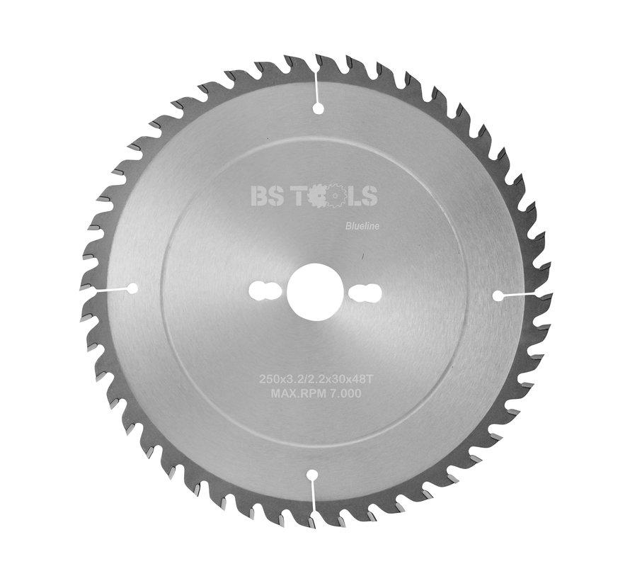 Circular sawblade BlueLine 250 x 3,2 x 30 mm.  T=48 alternate top bevel teeth