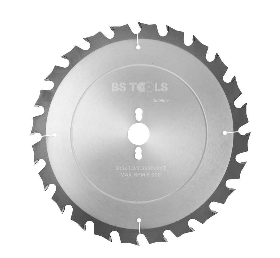 Circular sawblade BlueLine 305 x 3,2 x 30 mm.  T=24 alternate top bevel teeth