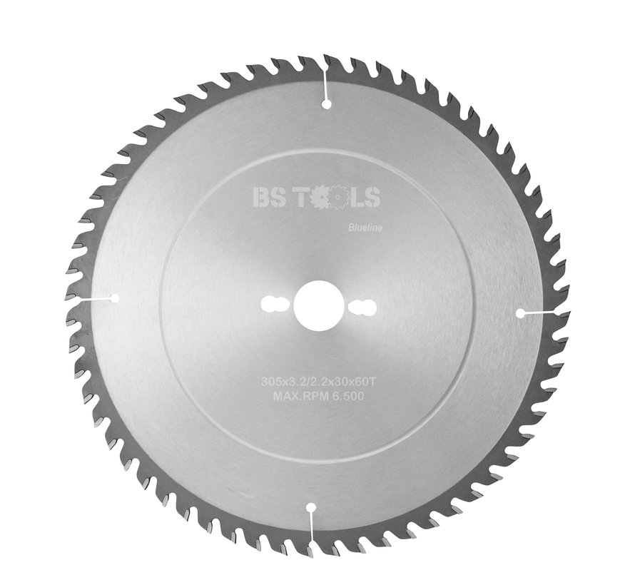 Circular sawblade BlueLine 305 x 3,2 x 30 mm.  T=60 alternate top bevel teeth