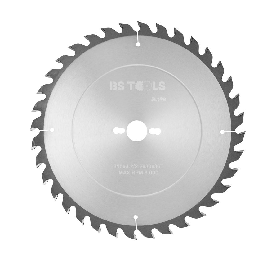 Circular sawblade BlueLine 315 x 3,2 x 30 mm.  T=36 alternate top bevel teeth