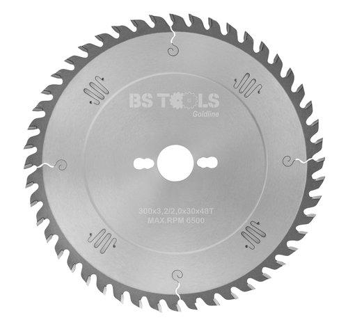 BS tools GoldLine Circular sawblade GoldLine 300 x 3,2 x 30 mm.  T=48 alternate top bevel teeth