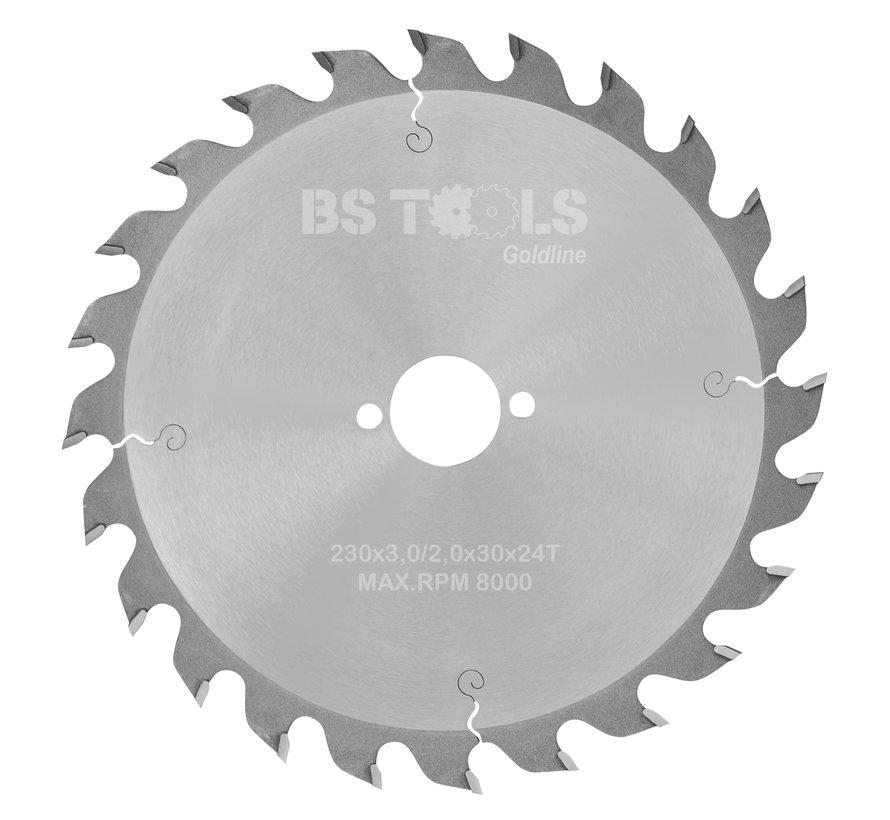 Circular sawblade GoldLine 230 x 3,0 x 30 mm.  T=24 alternate top bevel teeth