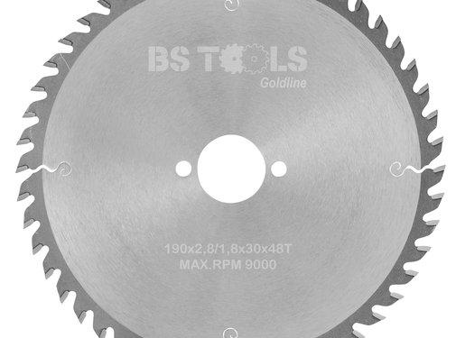BS tools GoldLine Circular saw GoldLine 190 x 2,8 x 30 mm.  T=48 ATB