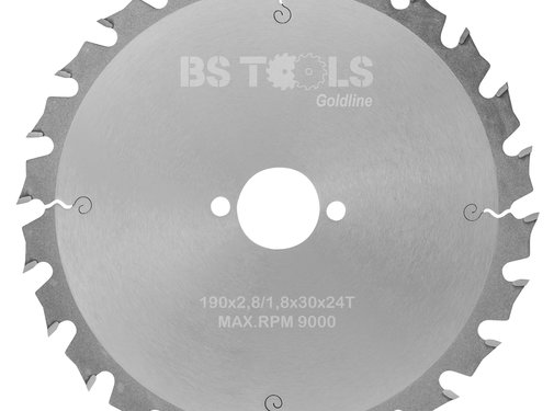 BS tools GoldLine HM zaag GoldLine 190 x 2,8 x 30 mm.  T=24 wz