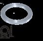 Reduction ring Ø20-Ø10 x 0,9 mm.