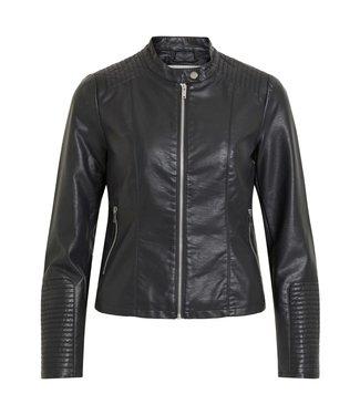 VILA Vibleu New PU Jacket Noos Black
