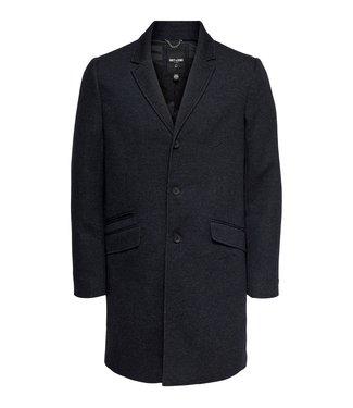 Only & Sons Onsjulian King Coat In OTW Black