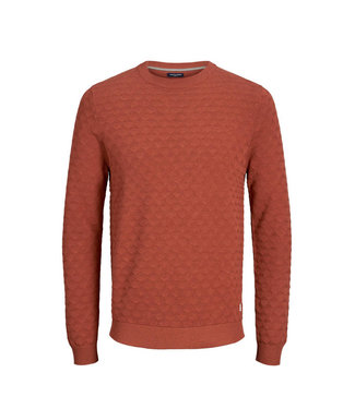 Jack & Jones JPRBLAKE KNIT CREW NECK HENNA