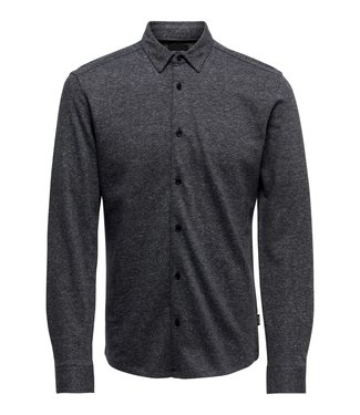 Only & Sons onsGabriel L/S Knitted Melange Shirt Navy