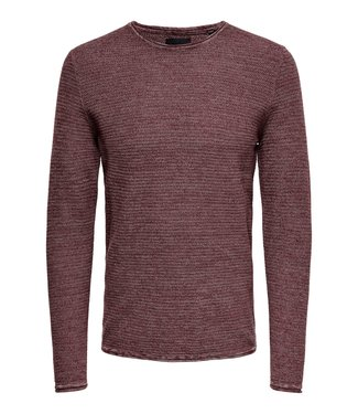 Only & Sons ONSWICTOR 12 CREW NECK ZINFANDEL