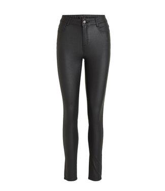 VILA Vicommit Coated RWSS New Pant-Noos Black