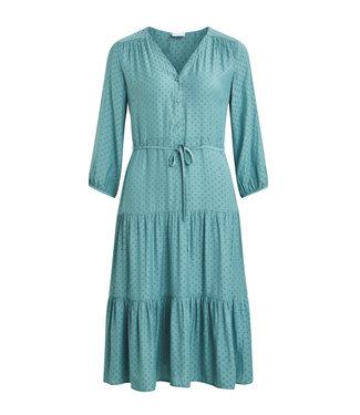 VILA Vidotello 3/4 Dress Oil Bleu
