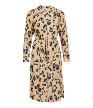VILA VICAVA LIOAN L/S SHIRT DRESS/L NOMAD