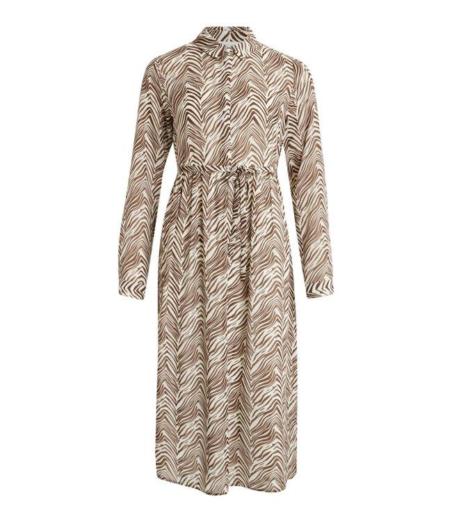 VILA VIKOAL L/S SHIRT DRESS /RX CLOUD DANCER