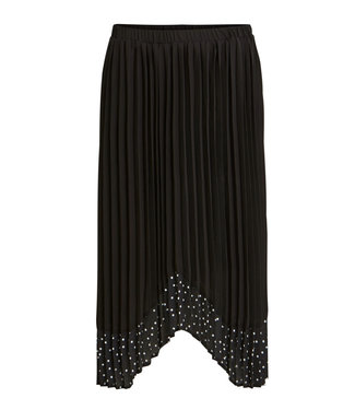 VILA Vipaiga Midi Skirt Black/White