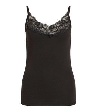VILA Vila Viofficiel Lace Strap Top-Noos Black