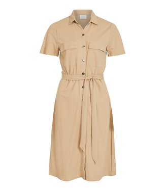 VILA VISAFINA S/S SHIRT DRESS - NOOS NOMAD