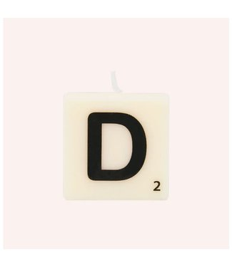 The Gift Label letter kaars D