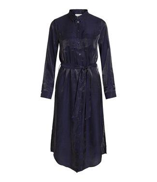 VILA viglatanis l/S Midi Shirt Dress /GR Navy