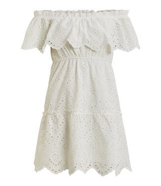 VILA VILA VISABELLA OFFSHOULDER DRESS SNOW WHITE