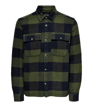 Only & Sons ONSSCOTT LS CHECK FLANNEL OVERSHIRT