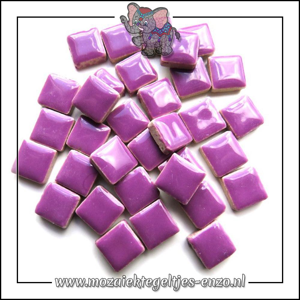 Geglazuurde Keramiek Stenen | 1cm | Enkele Kleuren | 60 stuks | Pretty Purple