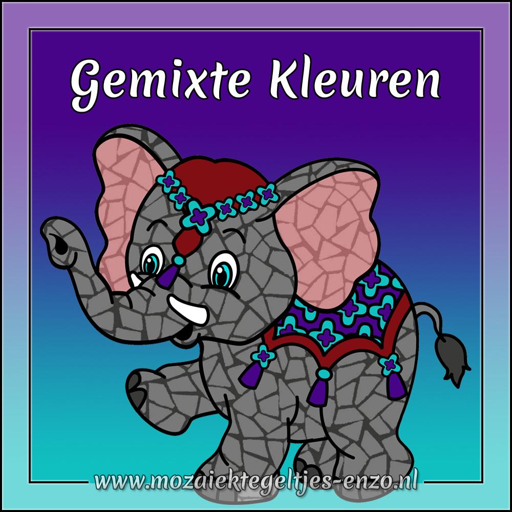 Parelmoer   1cm   Gemixte Kleuren   60 stuks   Mini Mixed Colours