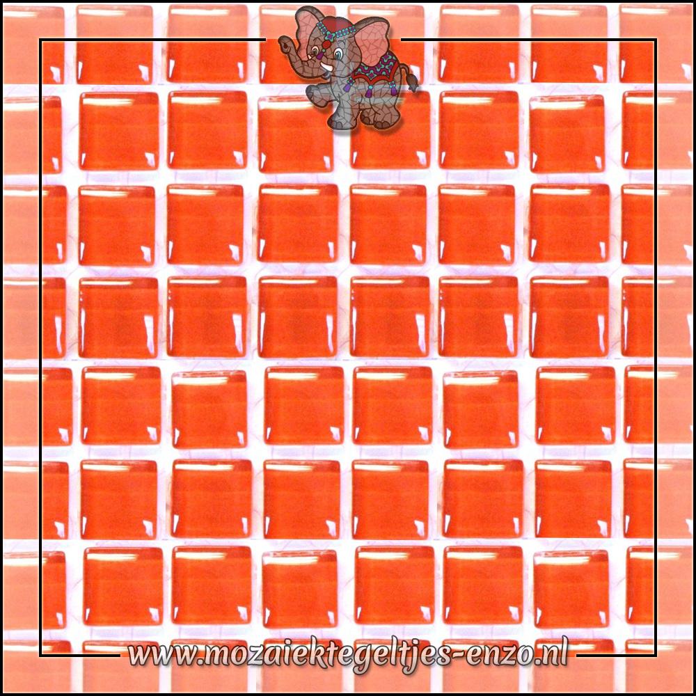 Murrini Crystal   1cm   Enkele Kleuren   60 stuks   Mini Satsuma Orange