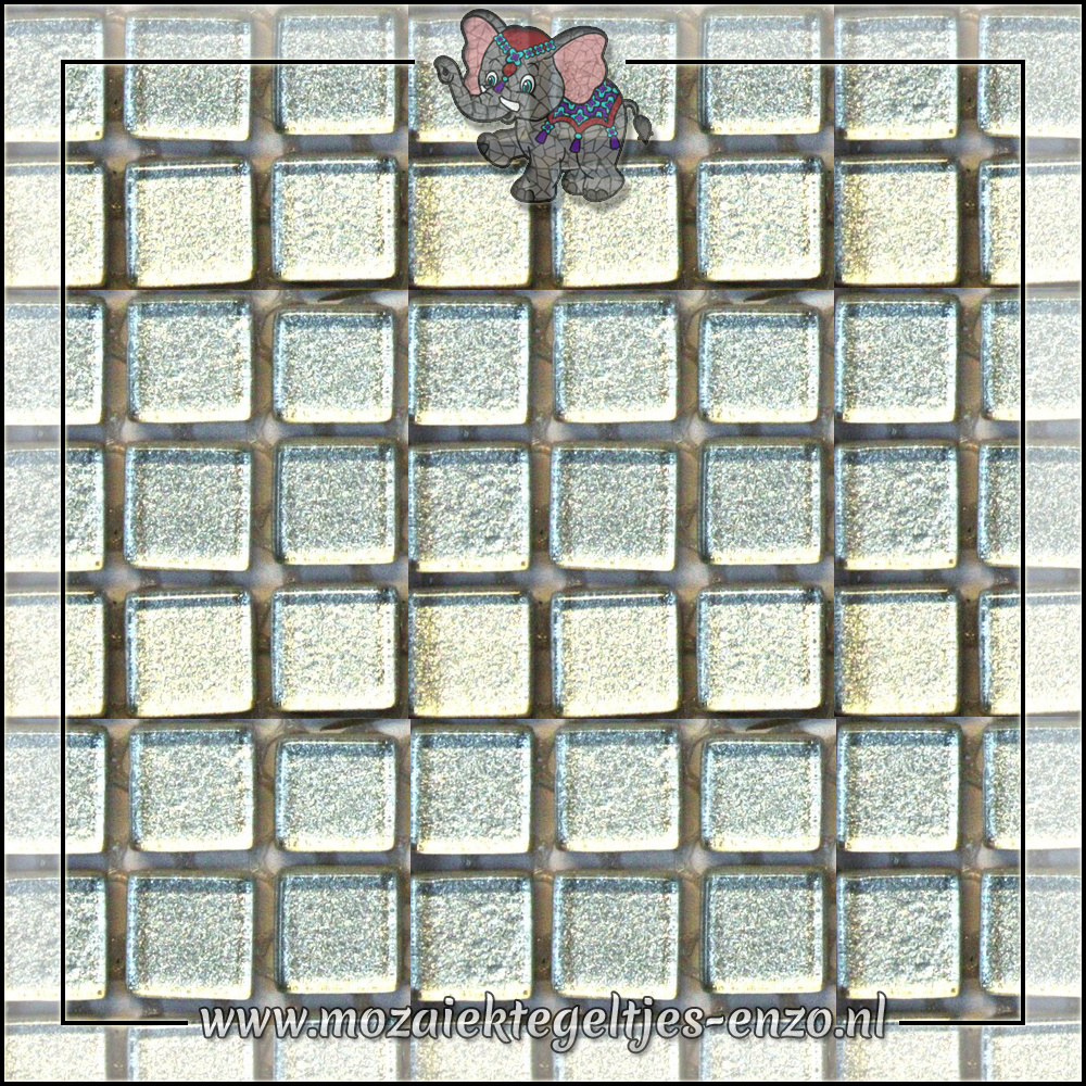 Murrini Crystal | 1cm | Enkele Kleuren | 60 stuks | Mini Shining Silver